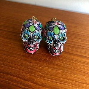 Painted Skull Earrings